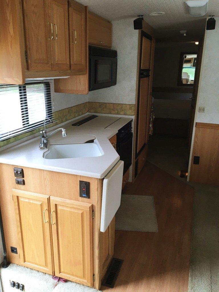 2003 winnebago adventurer 35U kitchen from front