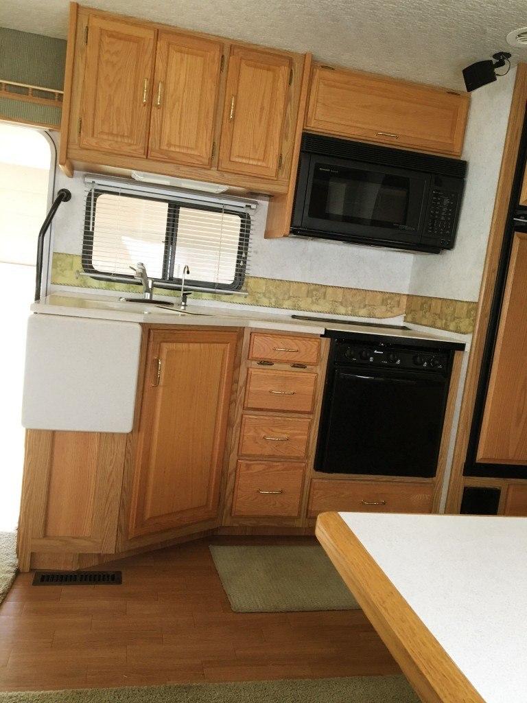 2003 winnebago adventurer 35U kitchen