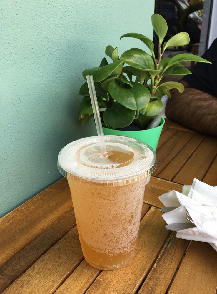 local kombucha on tap at fruits and roots