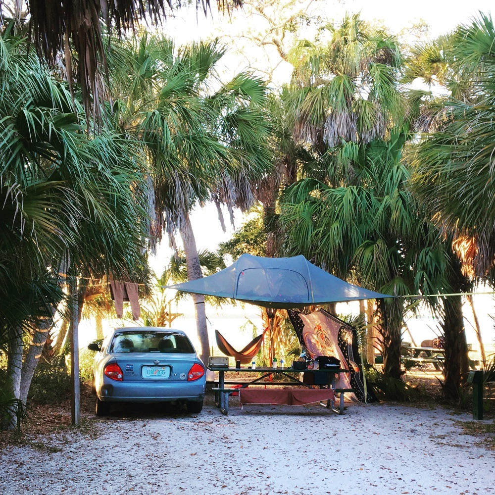 tentsil tree tent at fort desoto