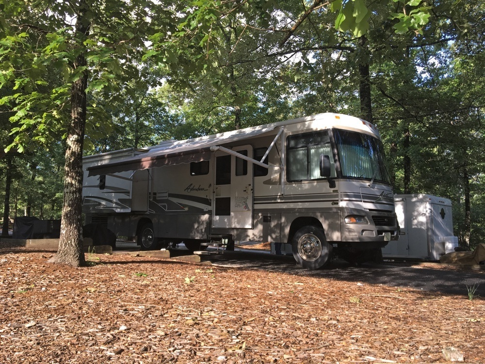 rv camping at tallulah gorge state park.