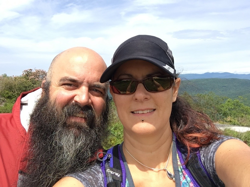 Kevin and Laura at Sassafrass Mountain summit in South Carolina.
