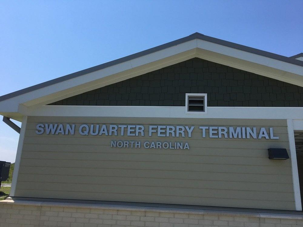 Swan Quarter ferry terminal in North Carolina.