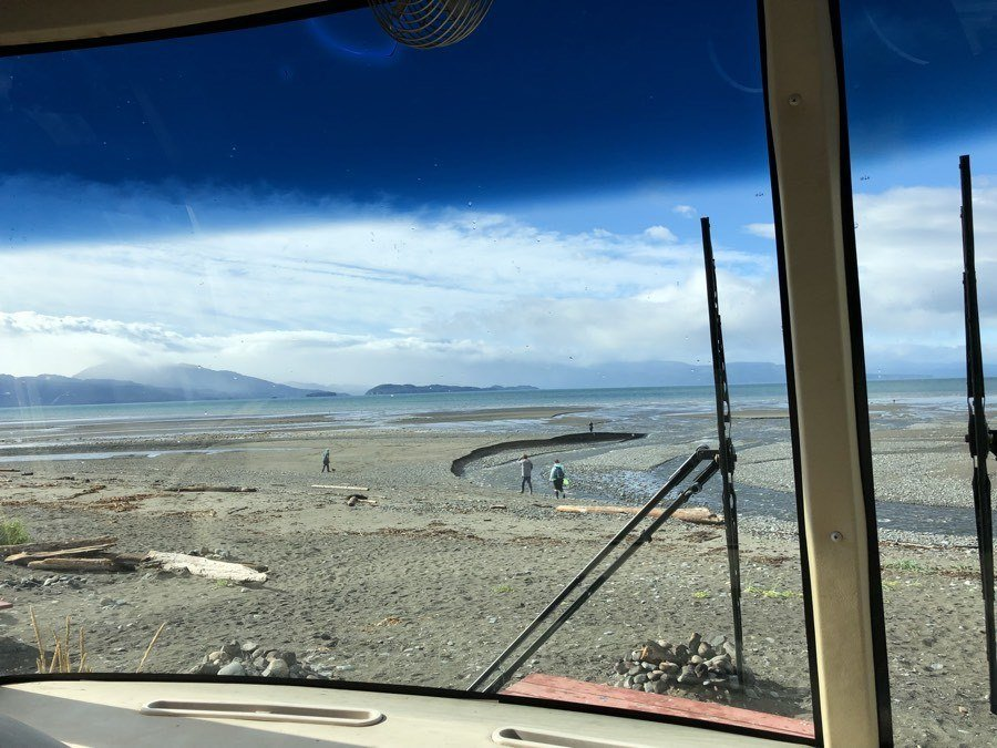 View from our front window at Mariner Park Campground on the Homer Spit.