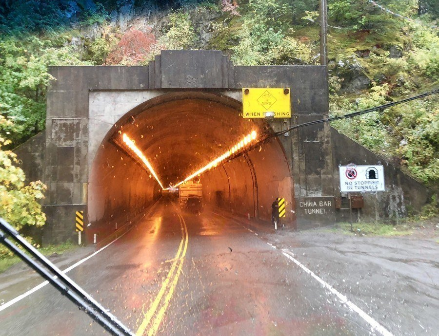 tunnel on the trans canada highway.