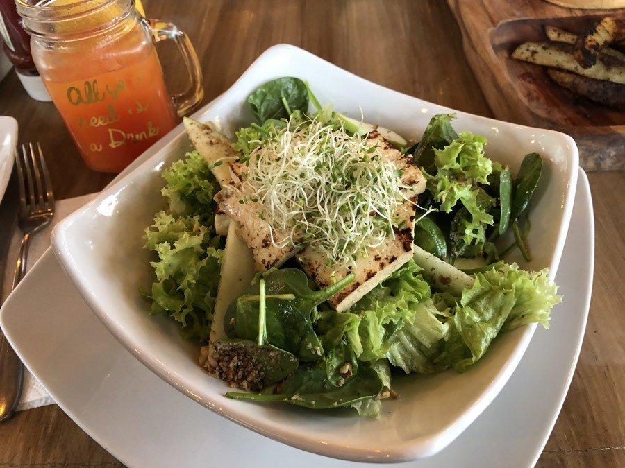 salad at mako raspados in cabo san lucas, bcs, mexico.